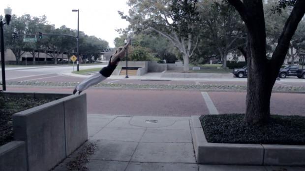Niki Whalen Parkour Jump