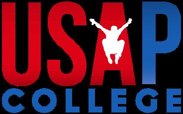 USAPCollege_Logowhitemanlittle