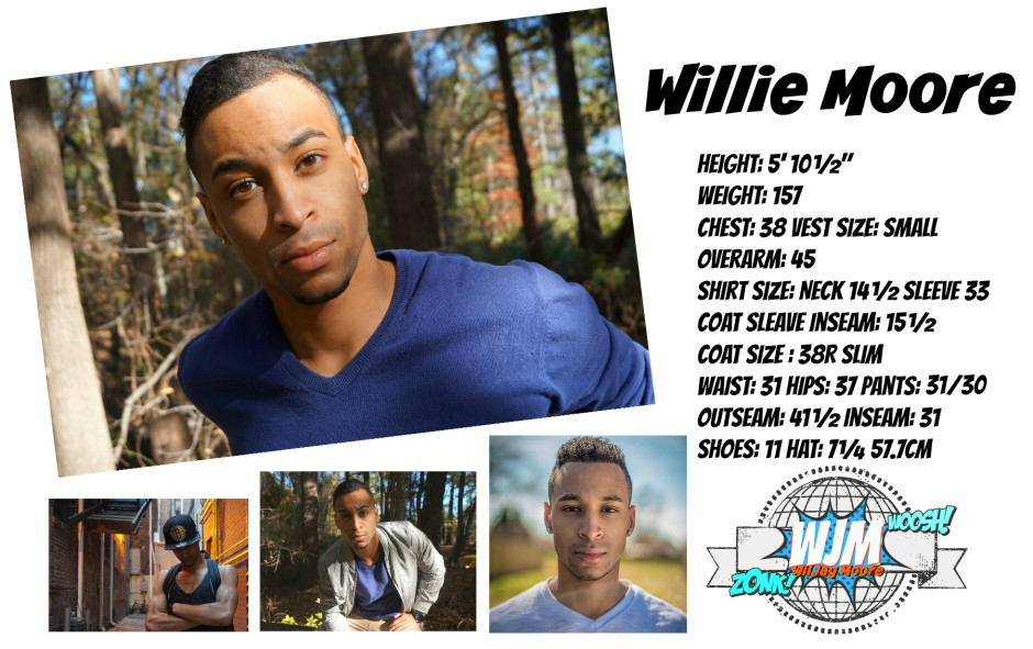 Willie Moore Size Card