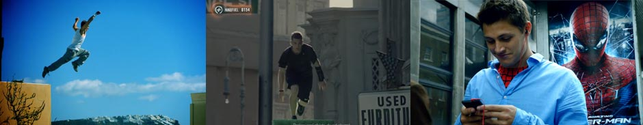 Parkour Athletes in Commercials
